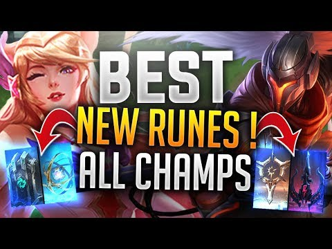 BEST NEW RUNES FOR ALL CHAMPIONS MID LANE (Zed, Yasuo, Azir etc) Runes Rework - League of Legends