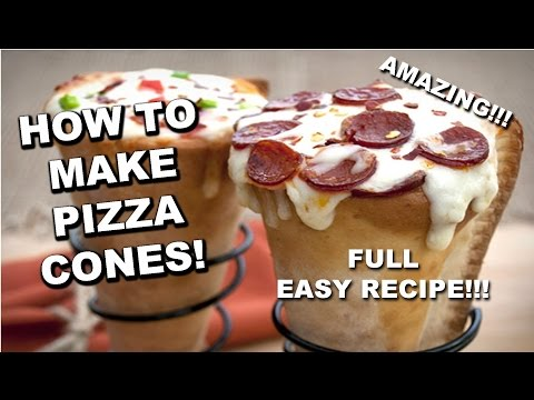 HOW TO MAKE PIZZA CONES! (EASY)!!!