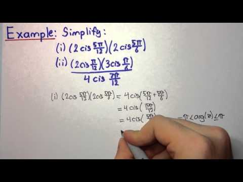 HSC Maths Ext2 - Complex Numbers - Product and Quotient in Modulus-Argument Form Example