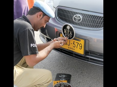 Excise department launches crackdown against illegal number plates