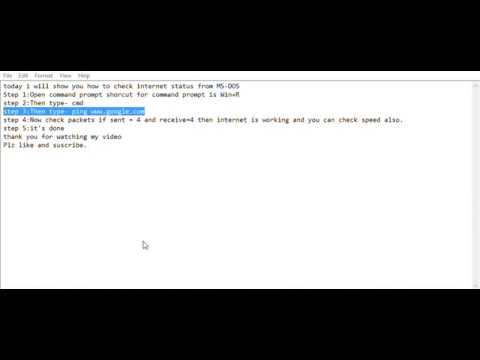 How to check internet from command prompt