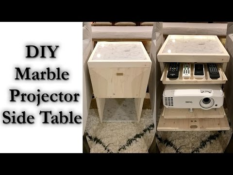 Marble Projector Side Table DIY