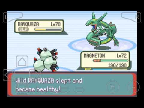 Pokemon Emerald:How to catch rayquaza