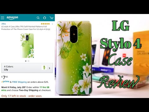 LG Stylo 4 Lily painted Case. This case is definitely worth it 👍