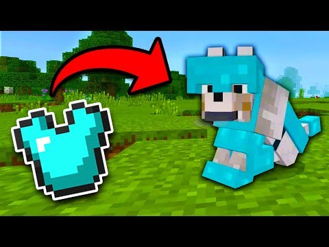 How to get WOLF ARMOR in Minecraft Tutorial! (Pocket Edition, Xbox, Addon)