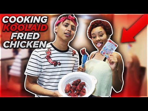 FRYING KOOL-AID CHICKEN WITH HALI!! *Amazing RESULTS*