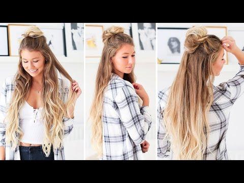 Easy Messy Half-Bun | Luxy Hair