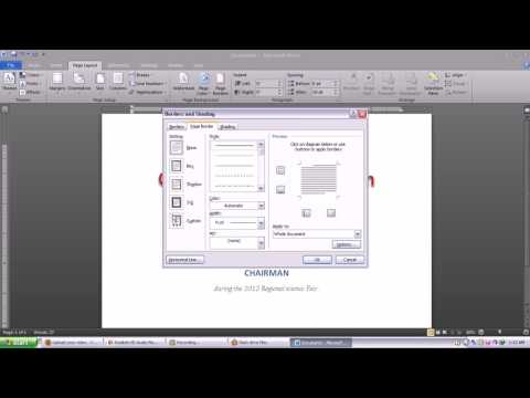 Making certificate using Microsoft word 2010