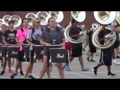 Marching Band spends hours conditioning for the season