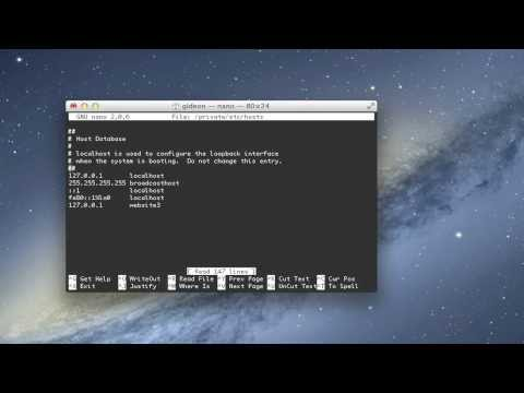 Edit the Hosts File in Mac OS X with Terminal