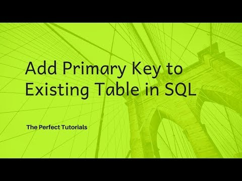 Add Primary Key to Existing Table using SQL - Oracle Express Edition Tutorial