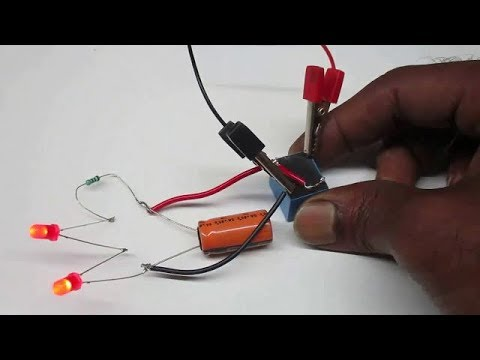 Blinking LED - How to make a dual LED Blinking circuit using Relay and Capacitor