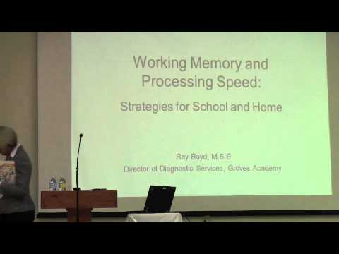 Working Memory and Processing Speed  12.1.11 (1 of 9)