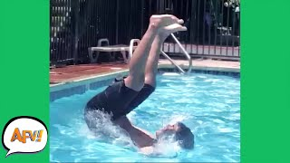 Just a Bunch of POOL FOOLS! 😅   Funniest Water Fails   AFV 2021