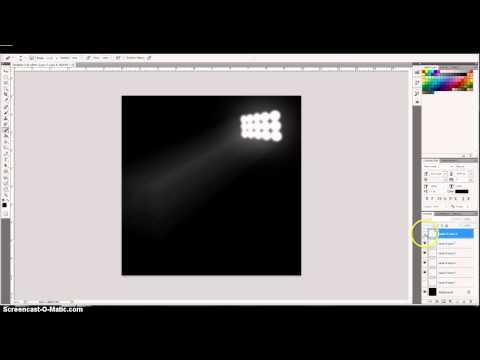photoshop basics: stadium lighting effect