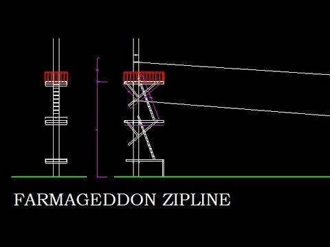 500 Foot Zipline Tower Build at FARMAGEDDON, Part 1