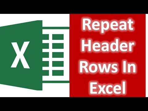 Repeat Header Rows in MS Excel 2007,2010,2013,2016 Bangla tutorial