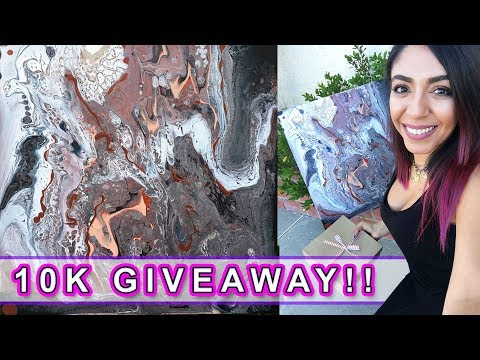 ***CLOSED*** 10K GIVEAWAY Fluid Pouring Painting !!!!