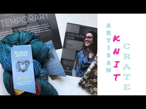 Unboxing ARTISAN KNITCRATE  May 2018 | TeoMakes
