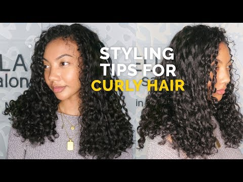 HOW TO CUT & STYLE CURLY HAIR | STYLING TIPS FOR CURLY HAIR