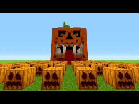 Minecraft: How To Make A Scary Pumpkin House | Jack o Lantern Tutorial (Halloween)