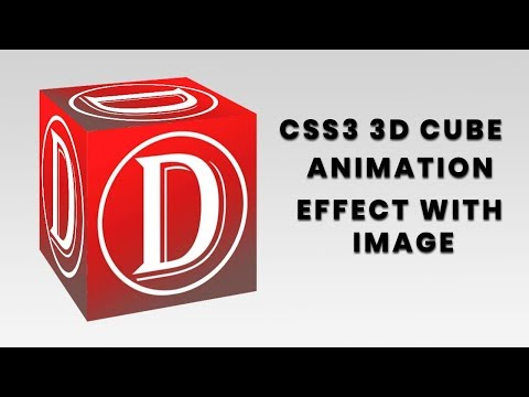 CSS3 3D Cube Box Animation with Image | CSS3 Animation Snippets