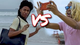 South African Moms at the beach: Black Mom VS White Mom