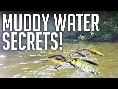 MUDDY WATER SECRETS! || Bass Fishing Tips & Lures For Muddy/Stained Water!