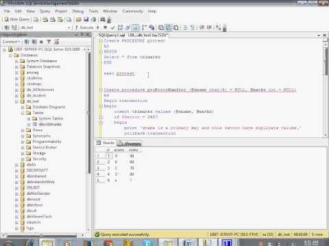 Learn Store Procedure in SQL in Hindi tutorial for beginners