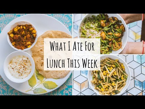 What I Ate For Lunch This Week | Mon - Fri Easy Indian Lunch Recipes | #VlogThursdays