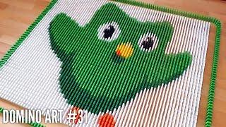 DUOLINGO OWL MADE FROM 5,000 DOMINOES | Domino Art #31
