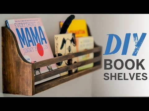 Simple Wooden Book Shelves (for a nursery!)