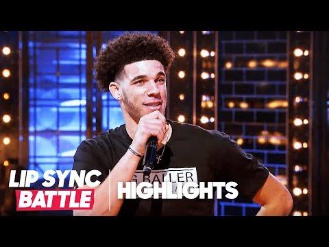 "Lonzo Ball Tells LaVar Ball to Be ""HUMBLE."" | Lip Sync Battle Highlights"