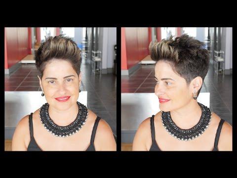 Women's Haircut Tutorial - Pompadour Pixie - TheSalonGuy