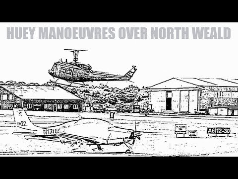 CRHnews - G-Huey manoeuvres over North Weald airfield