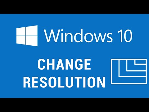 Windows 10 - Change Resolution