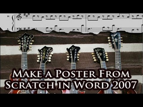 make a poster from scratch in word 2007
