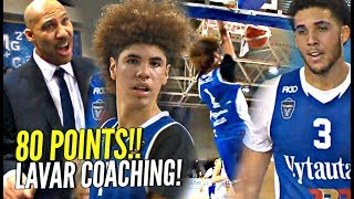 LaMelo Ball 43 Points In LaVar COACHING Debut! Gelo 37 Points! Melo