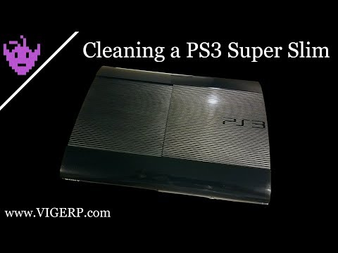 Cleaning a PS3 Super Slim
