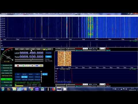 HAARP Alaska CW Carrier test received 9500 Khz Shortwave