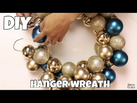 DAILY DECEMBER DIY | Holiday Hanger Wreath
