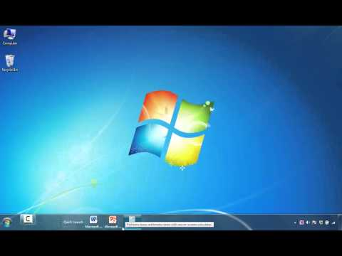How to Add Shortcut Icons to Quick Launch Toolbar in Windows 7