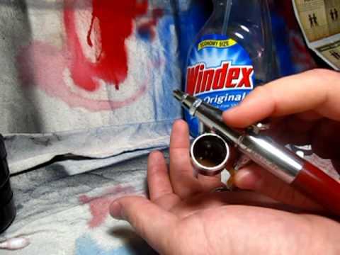 Aibrushing:  Mixing Acrylic Paint with Windex