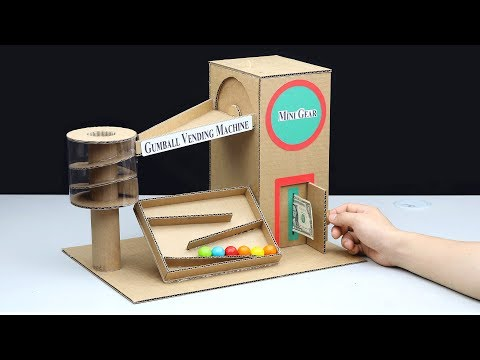 How to Make Gumball House Vending Machine with Money
