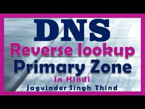 DNS Reverse lookup Primary Zone - DNS Server 2008 Part 3