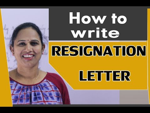 RESIGNATION LETTER || my grammar pages||