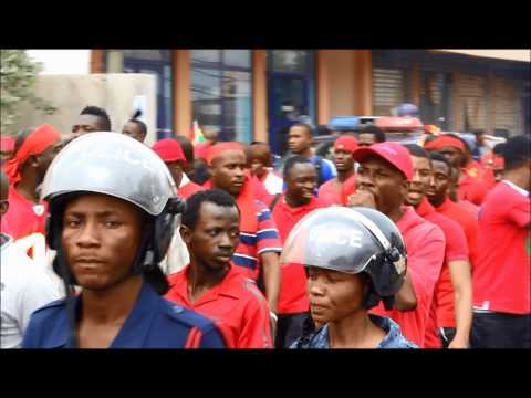 Ghanaian soccer fans march against Canadian High Commission