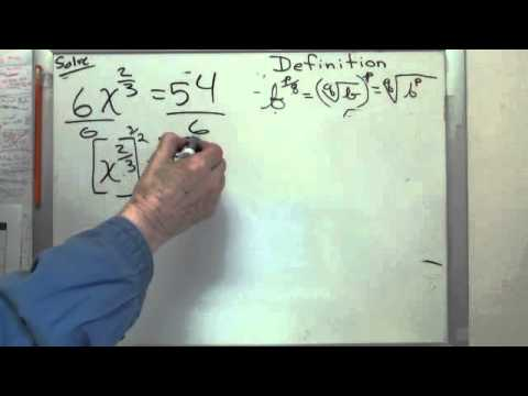 Equations to Solve With Fractional Exponents