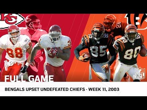 Bengals vs. 9-0 Chiefs (Week 11, 2003)   NFL Full Game
