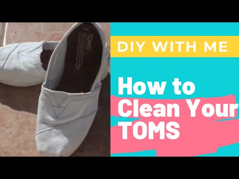 How to: Clean Your TOMS or Canvas Shoes Converse or Keds on Amazon